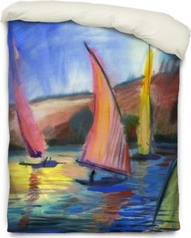 Sailing regatta Duvet Cover