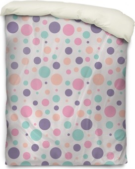 seamless dots pattern Duvet Cover