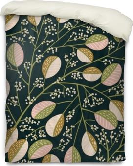 Seamless Spring tree pattern Duvet Cover