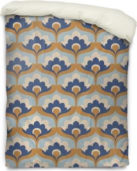 seamless vintage floral pattern Duvet Cover
