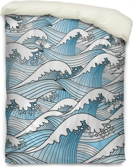 texture of sea waves Duvet Cover