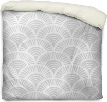 Vintage hand drawn art deco pattern Duvet Cover