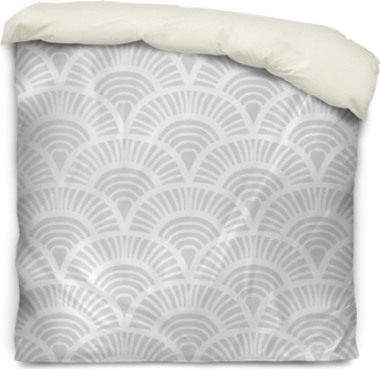 Vintage hand drawn art deco pattern Duvet Cover