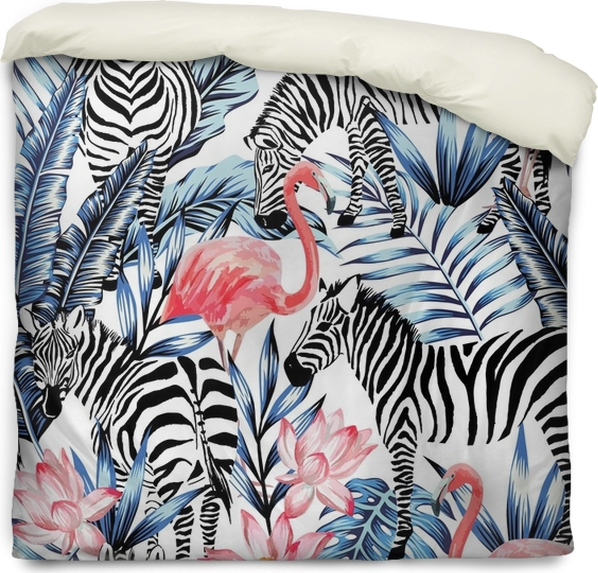 palm tropical duvet cover bedding use sets hawaiian and covers