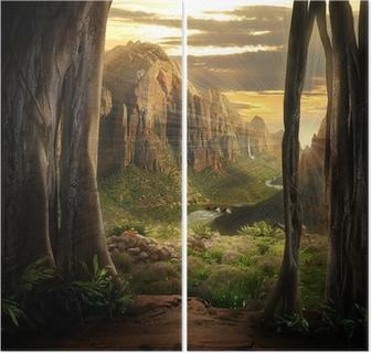 Dyptyk Fantazja krajobraz
