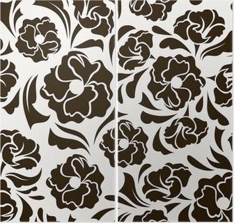 154e8e0a51368d Naklejka na stolik Lack Jednolite wzór z abstrakcyjne kwiaty i liście.  Vector. • Pixers® - Żyjemy by zmieniać