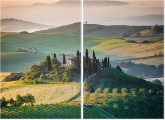 Dyptyk Ranka w Toskanii i wzgórza