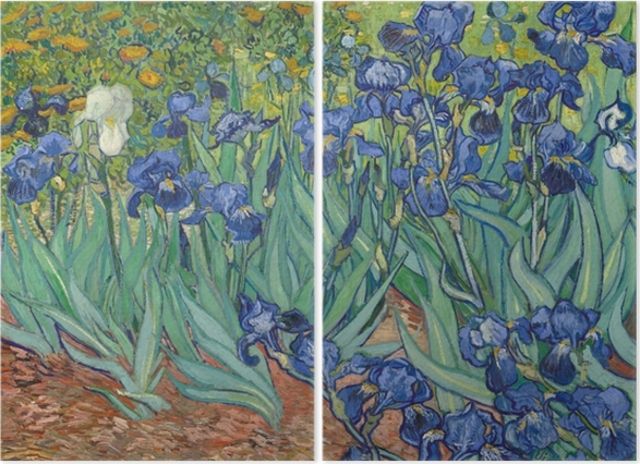 Dyptyk Vincent van Gogh - Irysy - Reproductions