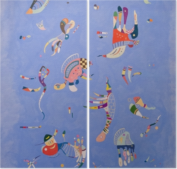 Dyptyk Wassily Kandinsky - Błękitne niebo - Reprodukcje