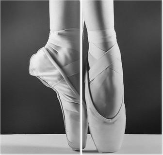 Dyptyk Zdjęcie pointes, baleriny w na tle czarnym