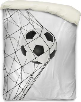 Federa per piumoni Pallone da calcio nella porta rete