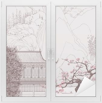 Fensteraufkleber Chinesische Landschaftp