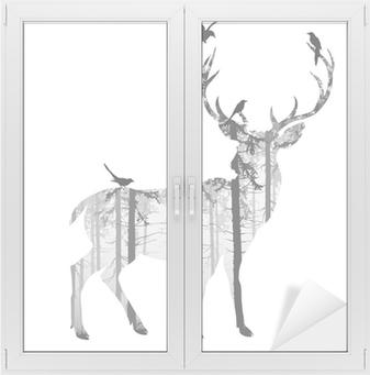Fensteraufkleber deerp