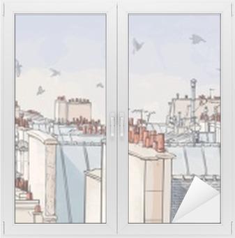 Fensteraufkleber Frankreich - Paris Dächern