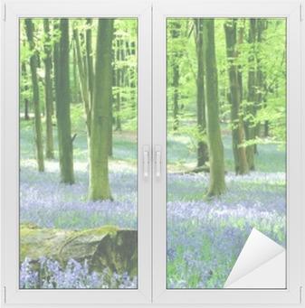 Fensteraufkleber Glockenblumen am Micheldeverp