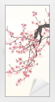 Fensteraufkleber Kirschblüte