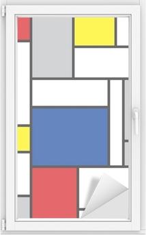 Fensteraufkleber Mondrian inspirierten Kunstwerke