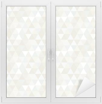 Fensteraufkleber Nahtlose Dreieck-Muster, Hintergrund, Textur