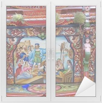 Fensteraufkleber Sizilianischen Warenkorbp