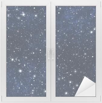 Fensteraufkleber Stern gefüllt Nachthimmelp