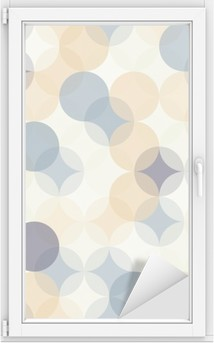 Fensteraufkleber Vector moderne nahtlose bunte Geometrie Muster Kreise, Farbe abstrakte geometrische Hintergrund, Tapetendruck, retro Textur, hipster Mode-Design, __p