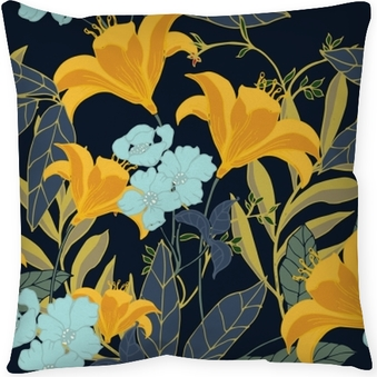 Abstract elegance pattern with floral background. Floor Pillow