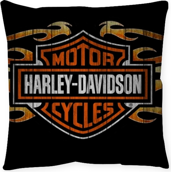 Living Room Art Cafe Social Club Kadıköy: Harley Davidson Floor Pillow • Pixers® • We Live To Change