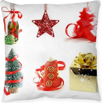 set different christmas decorations and symbols wall mural pixers we live to change - Different Christmas Decorations
