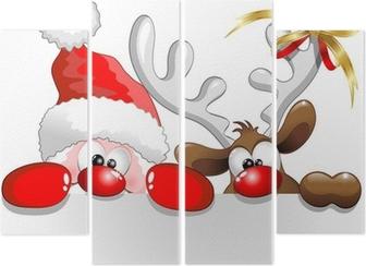 Fortyk Babbo Natale e Renna-Jultomten och renar Bakgrund