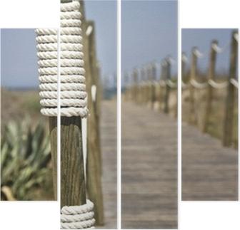 Nya Poster Board-walk rep staket på stranden • Pixers® - Vi lever för AP-02