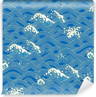 Vinyl Fotobehang 青 海波 日本 の 伝 統 文 様