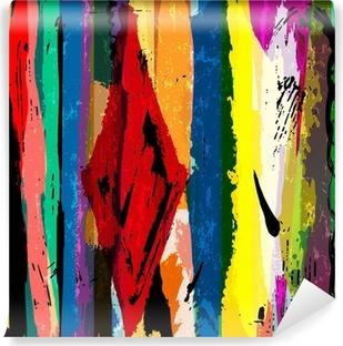 Vinyl Fotobehang Abstracte achtergrond, met strepen, verf slagen en spatten, een