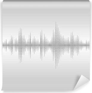 Vinyl Fotobehang Abstracte geluidsgolven