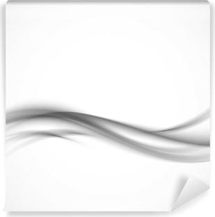 Vinyl Fotobehang Abstracte grijze golvende achtergrond