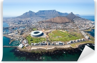 Vinyl Fotobehang Algemene luchtfoto van Kaapstad, Zuid-Afrika