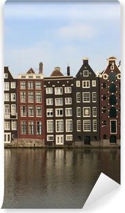 Vinyl Fotobehang Amsterdamse grachtenpanden