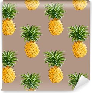 Vinyl Fotobehang Ananas tropische achtergrond