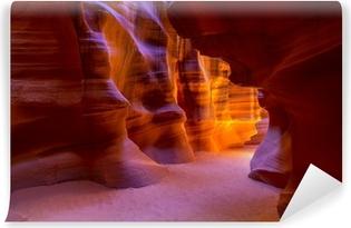 Vinyl Fotobehang Antelope Canyon Arizona op Navajo land buurt pagina