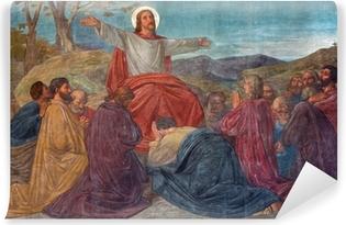 Vinyl Fotobehang Antwerpen - Preek van Jezus scene in Joriskerk - fresco