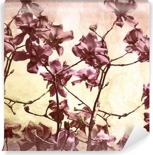 Vinyl Fotobehang Artistieke achtergrond met magnolia