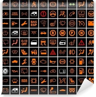 Sticker Auto Dashboard Iconen Pixers We Leven Om Te Veranderen