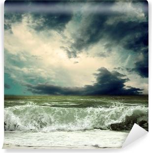 Vinyl Fotobehang Bekijk de storm zeegezicht