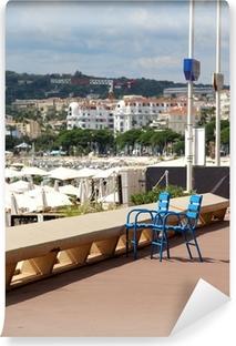 Vinyl Fotobehang Beroemde blauwe stoelen in Cannes