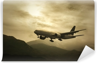 Vinyl Fotobehang Big Passanger Plane