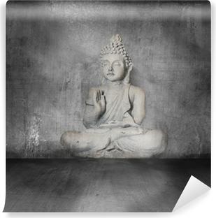 Vinyl Fotobehang Boeddha met grunge achtergrond