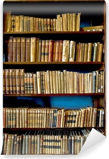 Vinyl Fotobehang Boeken in de bibliotheek