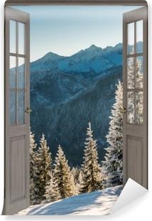 Vinyl Fotobehang Bruine deur - Tatry