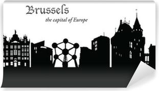 Vinyl Fotobehang Brussel Cityscape