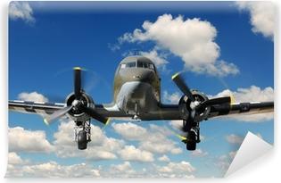 Vinyl Fotobehang C-47 Vinteg Plane Landing