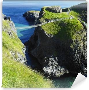 Vinyl Fotobehang Carrick-a-Rede touwbrug, County Antrim, Noord-Ierland